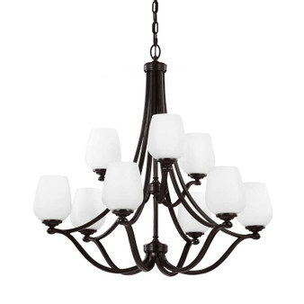 9 - Light Chandelier Heritage Bronze,Heritage Bronze,Chandelier,Feiss Lighting