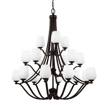 18 - Light Chandelier Heritage Bronze,Heritage Bronze,Chandelier,Feiss Lighting
