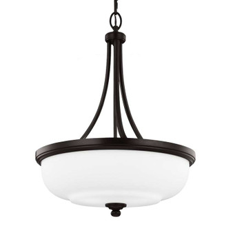 3 - Light Uplight Pendant Heritage Bronze,Heritage Bronze,Chandelier,Feiss Lighting