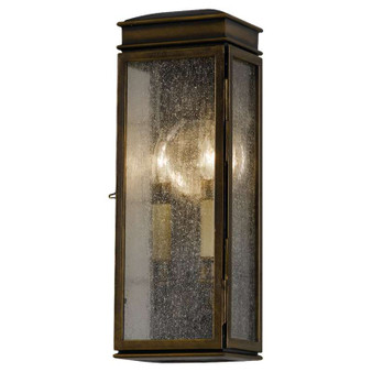 2 - Light Wall Lantern,Astral Bronze,Wall Sconce,Feiss Lighting