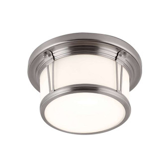 2 - Light Woodward Flushmount,Brushed Steel,Flush & Semi-Flush Mount,Feiss Lighting