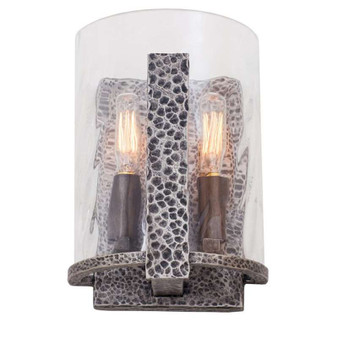 Odessa,ADA Sconce Hammered Silver