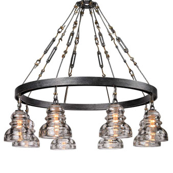 Menlo Park,Troy Lighting,Menlo Park 8lt Chandelier Medium