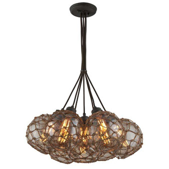Outer Banks,Troy Lighting,Outer Banks 7lt Pendant Large