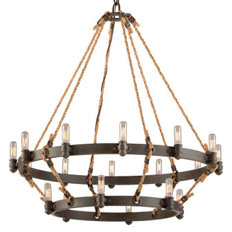 Pike Place,Troy Lighting,Pike Place 18lt Pendant 2 Tier