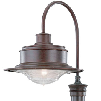 South Street,Troy Lighting,South Street 1lt Post Downlight Large Old Galvanized