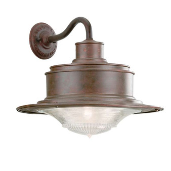 South Street,Troy Lighting,South Street 1lt Wall Downlight Large Old Galvanized