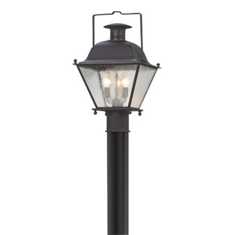 Wellesley,Troy Lighting,Wellesley 3lt Post Lantern Medium