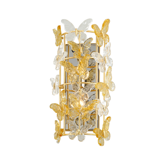 Milan 2 Light Wall Sconce Gold Leaf