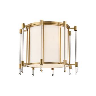 "Aged Brass,Delancey,4 Light 15"" Semi Flush"