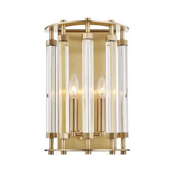 Aged Brass,Haddon,2 Light Wall Sconce