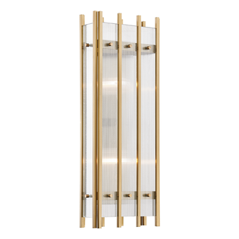 Aged Brass,Wooster,2 Light Wall Sconce