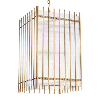Aged Brass,Wooster,8 Light Large Pendant