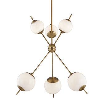Aged Brass,Remi,6 Light Chandelier