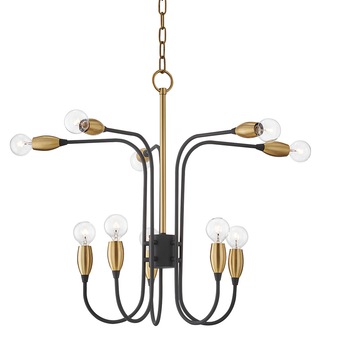 Mitzi by Hudson Valley H320810 Dakota 10 Light Chandelier