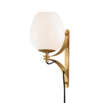 Mitzi by Hudson Valley HL291101 Lindsay 1 Light Wall Sconce With Plug