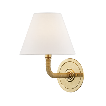 Aged Brass,Curves No.1,1 Light Wall Sconce