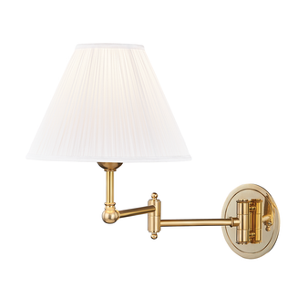 Aged Brass,Signature No.1,1 Light Adjustable Wall Sconce