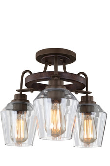 Brownstone,Allegheny 3 Light Semi Flush