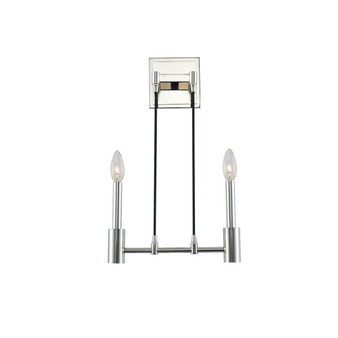 Polished Nickel,Kingston 2 Light ADA Wall Sconce