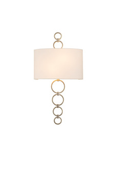 Champagne Silver Leaf,Carlyle 2 Light ADA Wall Sconce