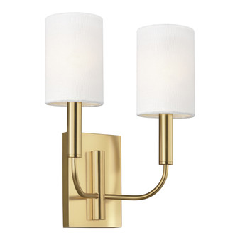 Burnished Brass,Brianna 2 - Light Wall Sconce