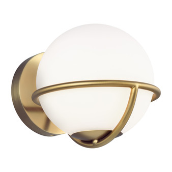 Burnished Brass,Apollo 1 - Light Wall Sconce