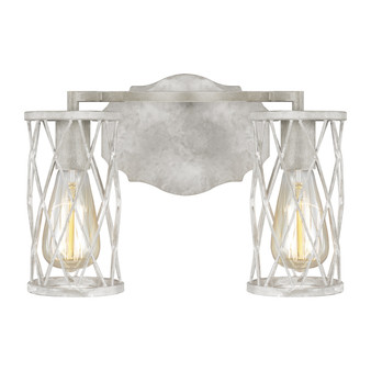 French Washed Oak / Distressed White Wood,Cosette 2 - Light Vanity
