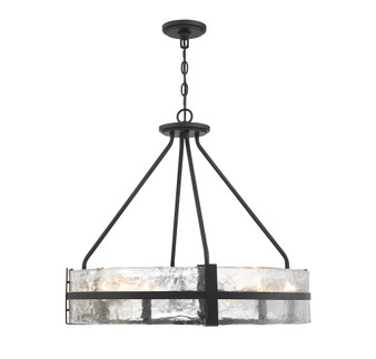Hudson 8 Light Matte Black Pendant