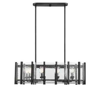 Racine 8 Light Outdoor Linear Chandelier