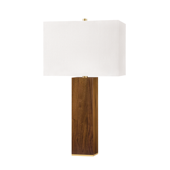 Waltham 1 Light Table Lamp W/ Light Walnut