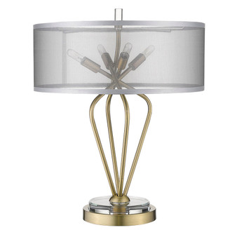 Trend Lighting by Acclaim TT80015AB Perret 4 Light Table lamp in Aged Brass