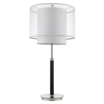 Trend Lighting by Acclaim BT7162 Roosevelt 1 Light Table Lamp in Espresso/ Brushed Nickel