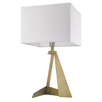 Trend Lighting by Acclaim TT80010AB Stratos 1 Light Table lamp in Aged Brass