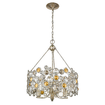 Trend Lighting by Acclaim TP10001ASL Vitozzi 3 Light Chandelier in Antique Silver Leaf