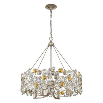 Trend Lighting by Acclaim TP10002ASL Vitozzi 4 Light Chandelier in Antique Silver Leaf