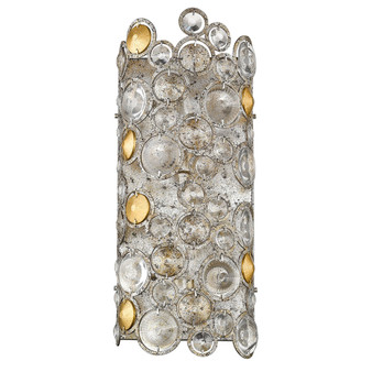 Trend Lighting by Acclaim TW40005ASL Vitozzi 2 Light Sconce in Antique Silver Leaf