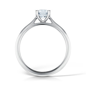 Diamond & Platinum Classic Four Claw Engagement Ring