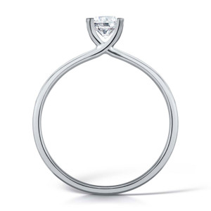 Diamond & Platinum Contemporary Four Claw Engagement Ring
