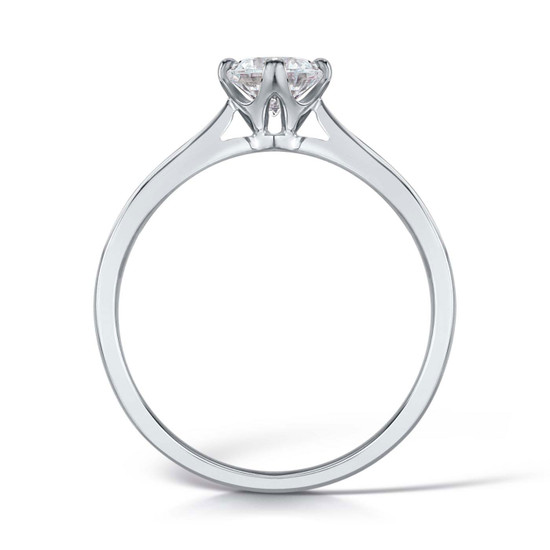 Diamond & Platinum Traditional NSEW Four Claw Engagement Ring