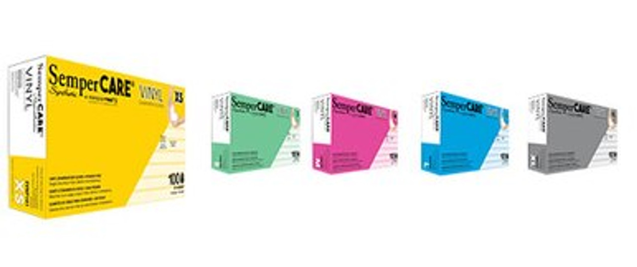 Vinyl Exam Gloves (10 Boxes of 100)  (FDA Approved)