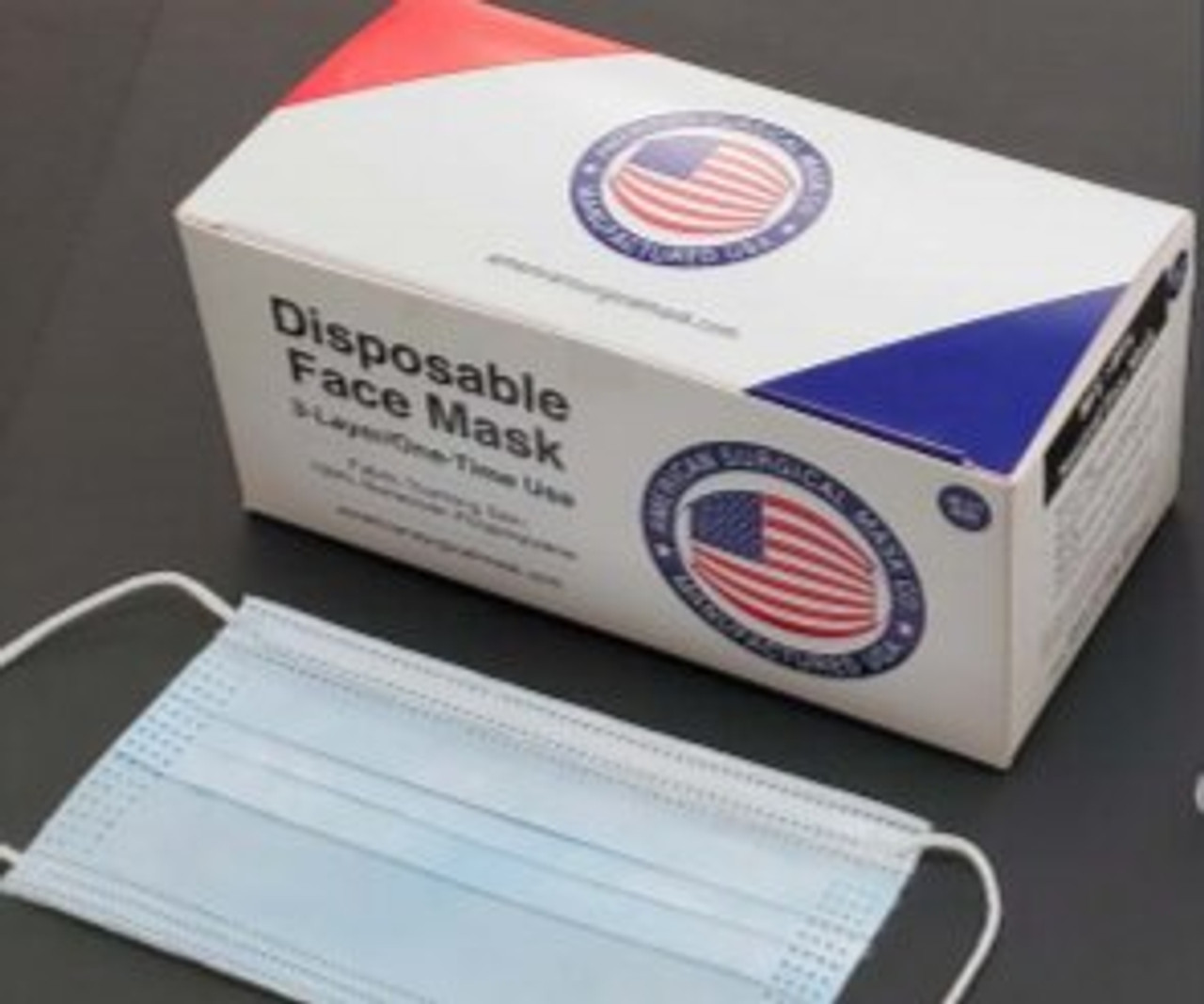 3 Ply Surgical Mask - (FDA Approved) (MADE IN USA)