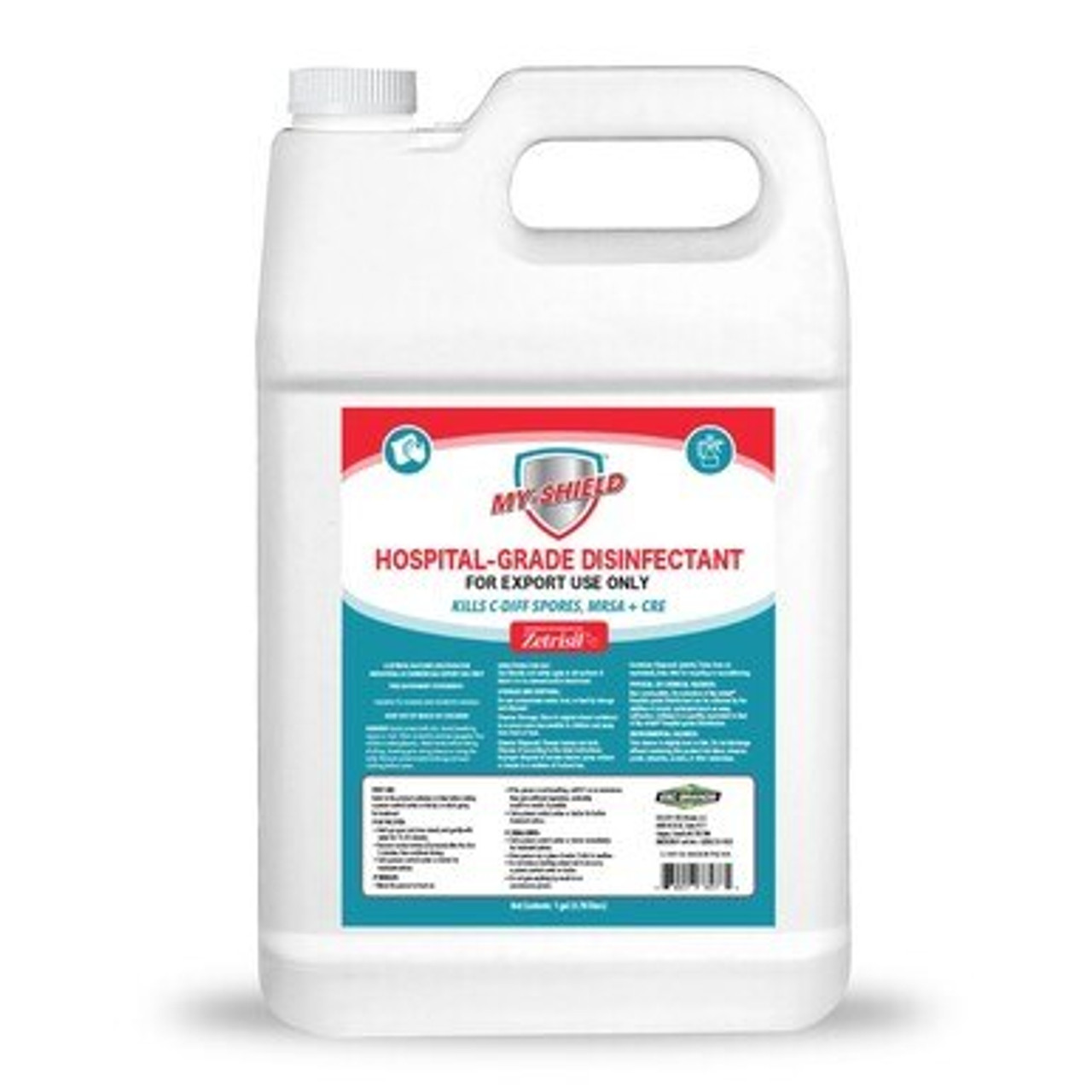 Hospital Grade Disinfectant - MyShield Case (4 x 1 Gallon Containers)