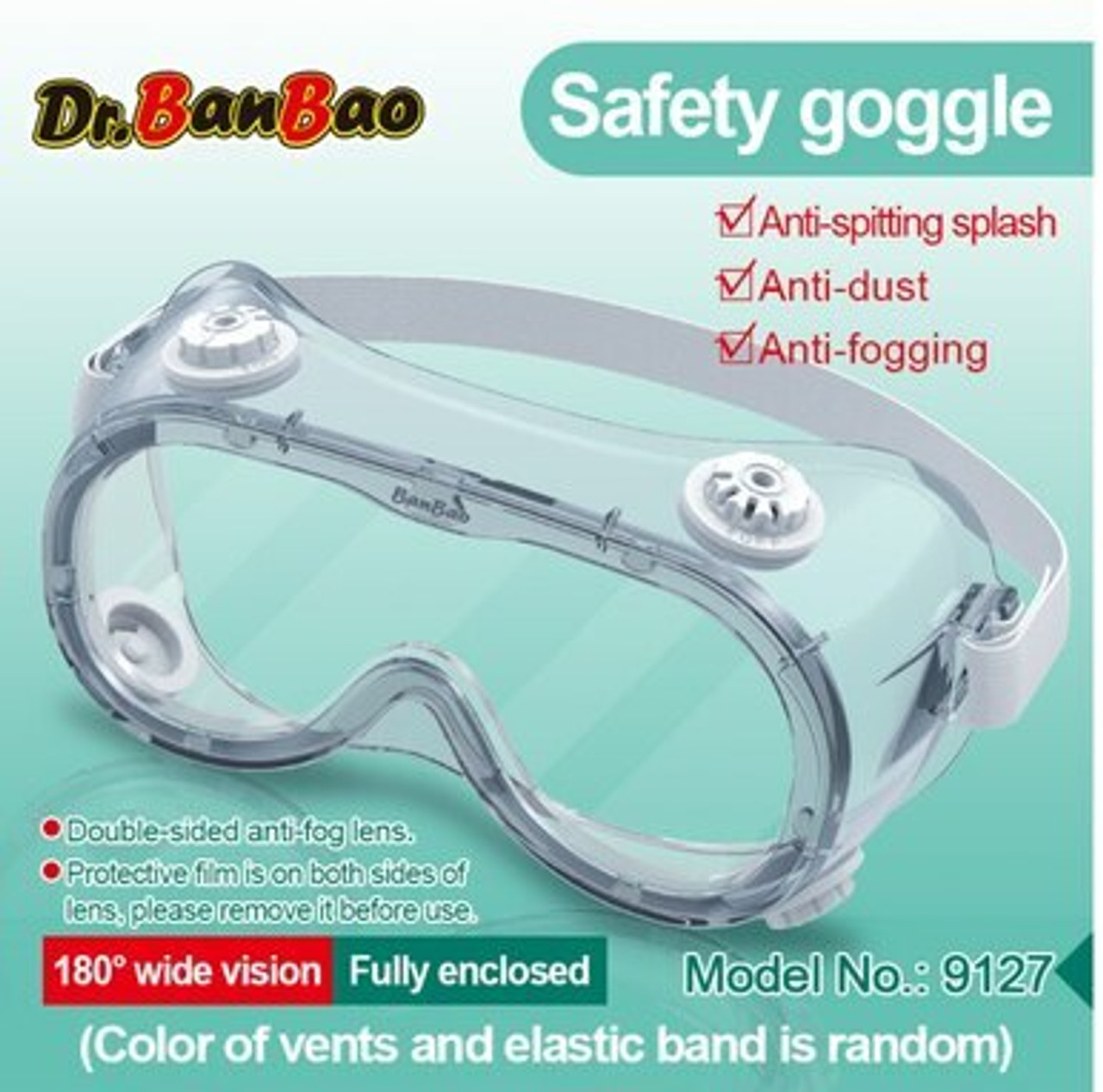 10 Pack - Medical Protective Goggles ($8 Each)