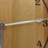 Barrel Head clock - plain face silver hands detail