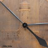 Barrel Head Clock with Lighthouse Scene on Alder Inlay - Detail closeup