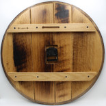 Barrel head clock - back