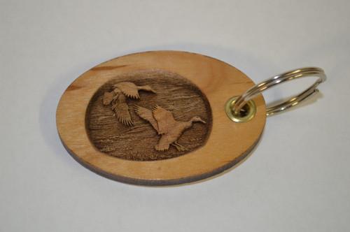 3D Mallard Ducks Key Ring