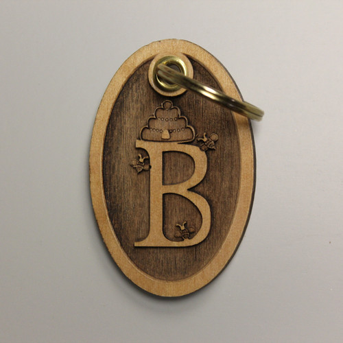 """3D Letter """"B is for Bee"""" Key Ring"""