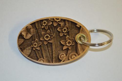 3D Floral Key Ring